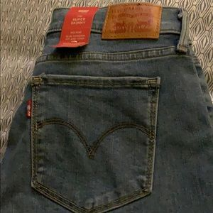 NWT Levi's super skinny jeans